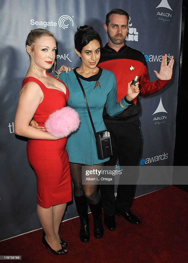 Cosplayers Christina Tellifson, Valerie Perez and Patryk Hall O'Really attend The 1st Annual Geekie Awards held at Avalon on August 18, 2013 in Hollywood, California.