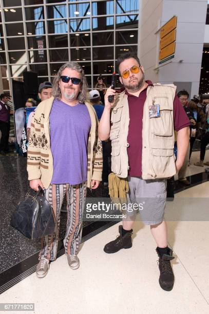 Cosplayers dressed as Jeffrey 'The Dude' Lebowski and Walter Sobchak from 'The Big Lebowski' attend C2E2 Chicago Comic and Entertainment Expo...