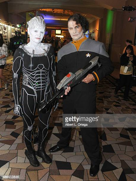 cosplayers dressed as the borg queen and data on star trek first contact on - Borg Halloween Costume