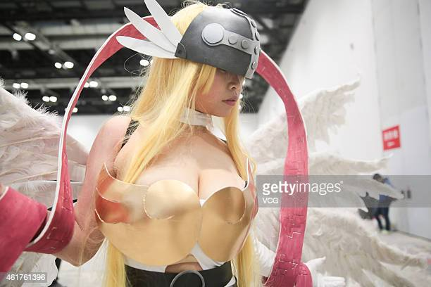 Cosplayers gather at National Convention Centre during an anime fair on January 18 2015 in Beijing China An anime fair was held at National...