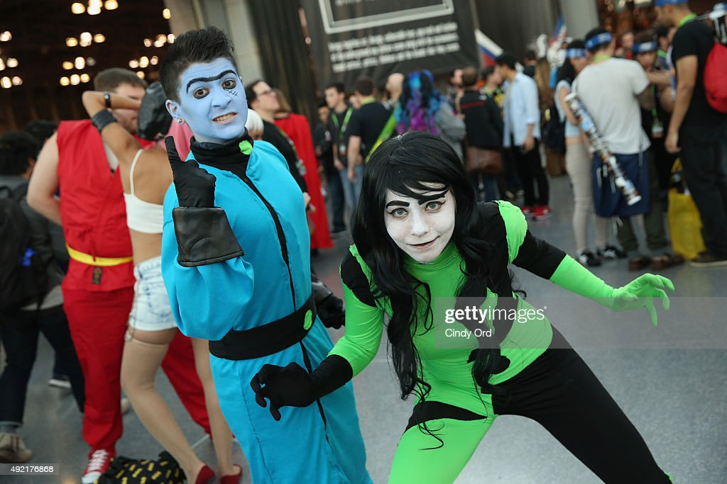 Cosplayers pose at the New York Comic Con 2015 on October 10 2015 in New York United States 25749_002 244JPG