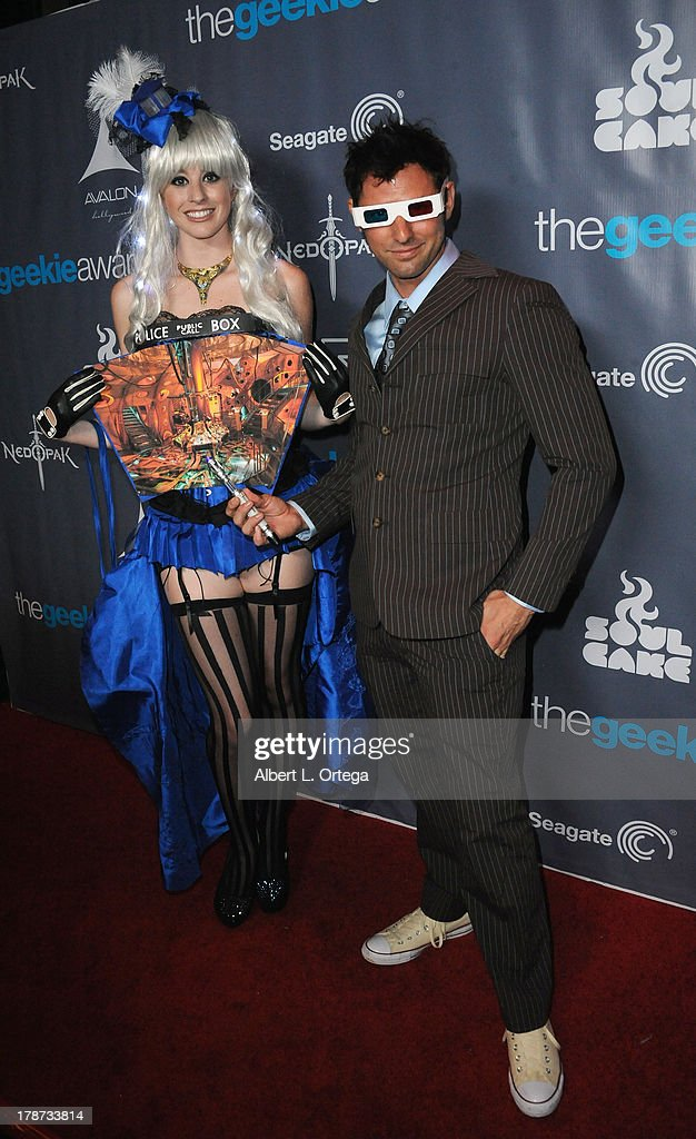 Cosplayers Sonja Wheeler and Brandon Hillock attend The 1st Annual Geekie Awards held at Avalon on August 18, 2013 in Hollywood, California.