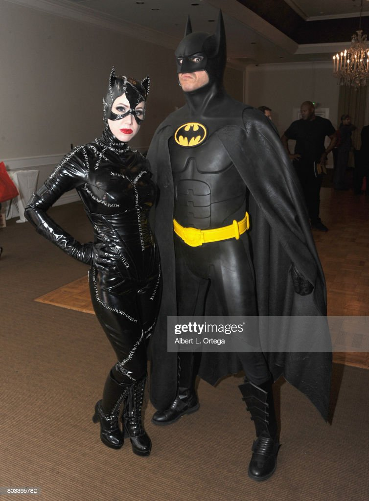 Cosplayers Tracie Cotta and Lito Velasco from 'Batman Returns' attend the 43rd Annual Saturn Awards - After Party held at The Castaway on June 28, 2017 in Burbank, California.