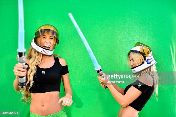 Cosplayers with lightsabers at the LA Times Hero Complex Spectacular at San Diego Comic Con at Hotel Solamar on July 24 2014 in San Diego California