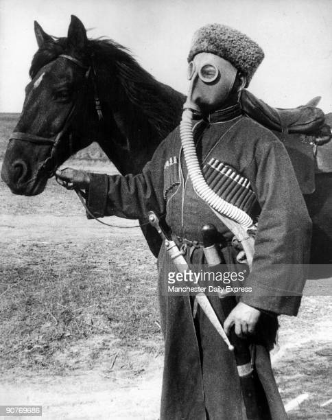 Cossack loses his glamour antigas training spreads to Steppes A gasmask with hideous goggle eyes makes an incongruous contrast and takes some of the...