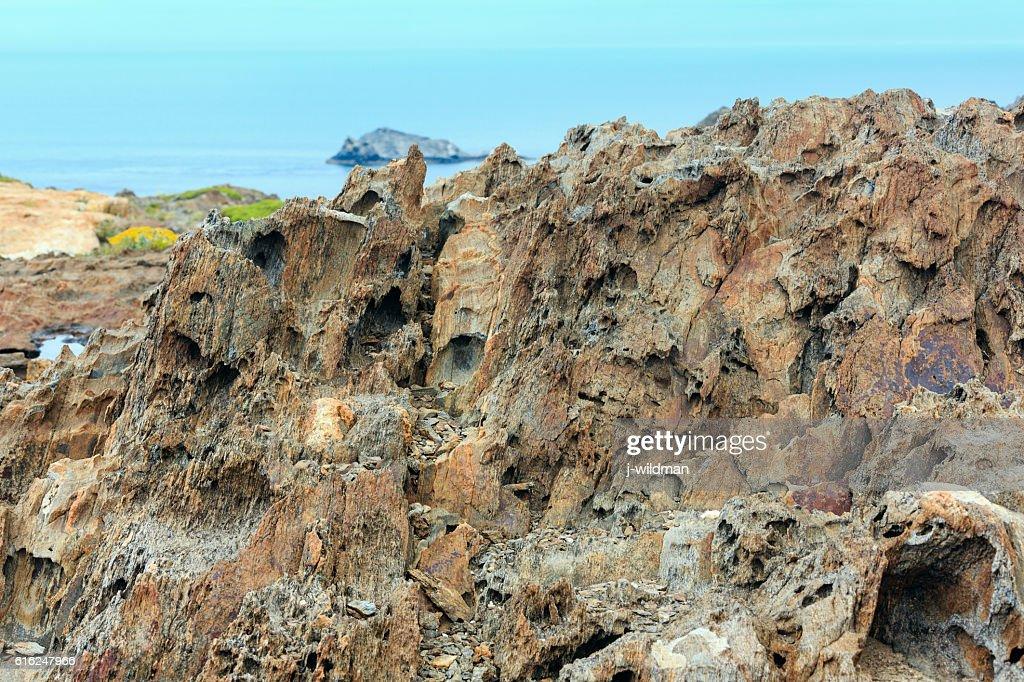 Costa Brava rocky coast, Spain. : Foto de stock