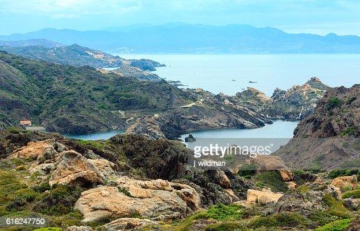 Costa Brava summer view from Cap de Creus, Spain. : Foto stock