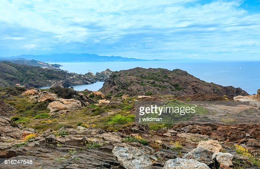 Costa Brava summer view, Spain. : Foto de stock
