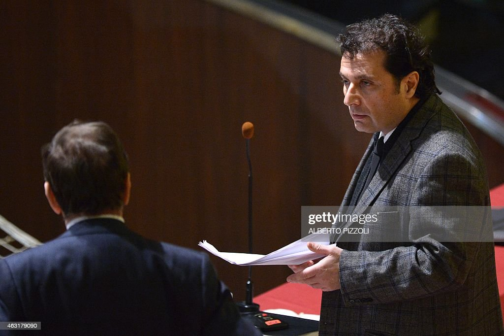 Costa Concordia's captain <a gi-track='captionPersonalityLinkClicked' href=/galleries/search?phrase=Francesco+Schettino&family=editorial&specificpeople=8797246 ng-click='$event.stopPropagation()'>Francesco Schettino</a> arrives in the courthouse for his final declaration on the last day of his trial on February 11, 2015 in Grosseto. An Italian court is expected to announce a verdict tonight or tomorrow in the case against <a gi-track='captionPersonalityLinkClicked' href=/galleries/search?phrase=Francesco+Schettino&family=editorial&specificpeople=8797246 ng-click='$event.stopPropagation()'>Francesco Schettino</a>, the captain of the Costa Concordia cruise ship that capsized in 2012, killing 32 people. Schettino, 54, is charged with multiple manslaughter and causing a shipwreck. He is also accused of abandoning ship ahead of his passengers.