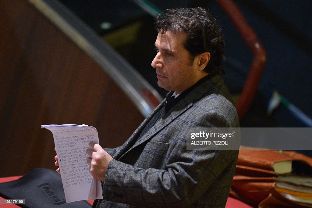 Costa Concordia's captain <a gi-track='captionPersonalityLinkClicked' href=/galleries/search?phrase=Francesco+Schettino&family=editorial&specificpeople=8797246 ng-click='$event.stopPropagation()'>Francesco Schettino</a> arrives in the courthouse for his final declaration on the last day of his trial on February 11, 2015 in Grosseto. An Italian court is expected to announce a verdict tonight or tomorrow in the case against <a gi-track='captionPersonalityLinkClicked' href=/galleries/search?phrase=Francesco+Schettino&family=editorial&specificpeople=8797246 ng-click='$event.stopPropagation()'>Francesco Schettino</a>, the captain of the Costa Concordia cruise ship that capsized in 2012, killing 32 people. Schettino, 54, is charged with multiple manslaughter and causing a shipwreck. He is also accused of abandoning ship ahead of his passengers. AFP PHOTO / ALBERTO PIZZOLI