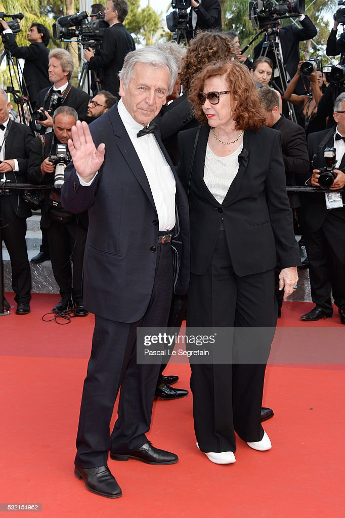 Costa Gavras and Michele Ray- Gavras attend 'The Unknown Girl (La Fille Inconnue)' Premiere during the 69th annual Cannes Film Festival at the Palais des Festivals on May 18, 2016 in Cannes, France.