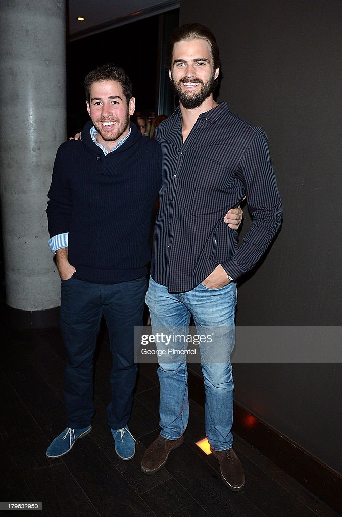 Costa Kotsazoikizis and football player Mike Bradwell attend the Interview Magazine, Sundance Selects and Mongrel Media celebrate the TIFF premiere screening of 'Blue is the Warmest Color' during 2013 Toronto International Film Festival on September 5, 2013 in Toronto, Canada.