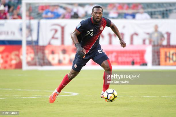 Costa Rica Defender Kendall Waston carries the ball in the first half during the CONCACAF Gold Cup Quarterfinal game between Costa Rica and Panama on...