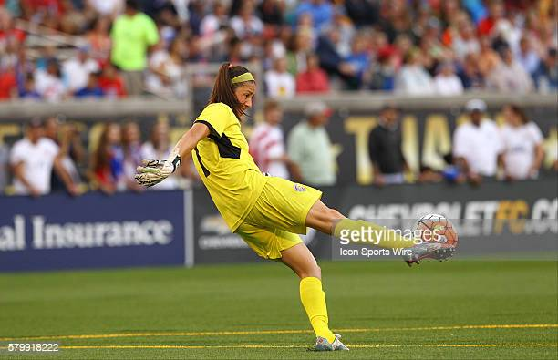 Costa Rica goalkeeper Dinnia Diaz clears the ball during the International Friendly match between the United States Women's National Team and the...