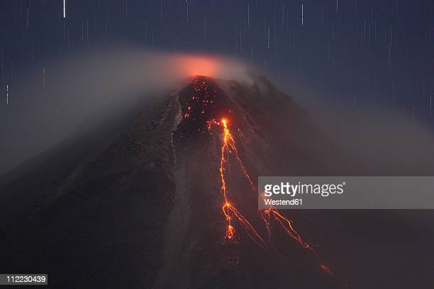 Costa Rica, Lava flow from arenal volcano eruption