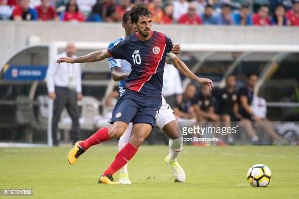 Costa Rica Midfielder Bryan Ruiz carries the ball in the second half during the CONCACAF Gold Cup Quarterfinal game between Costa Rica and Panama on...