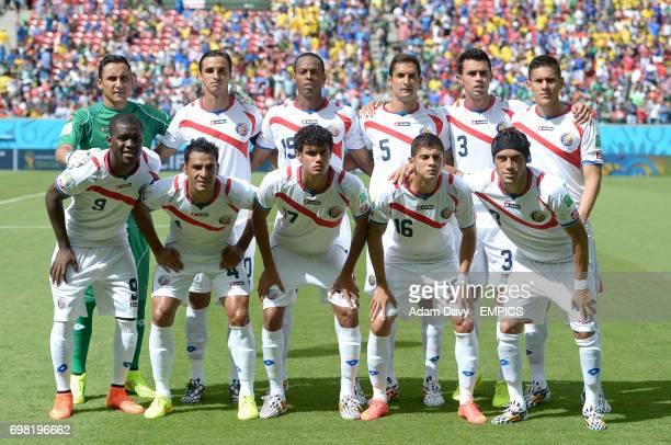 Costa Rica team group Keylor Navas Bryan Ruiz Junior Diaz Celso Borges Giancarlo Gonzalez Oscar Duarte Joel Campbell Michael Umana Yeltsin Tejeda...