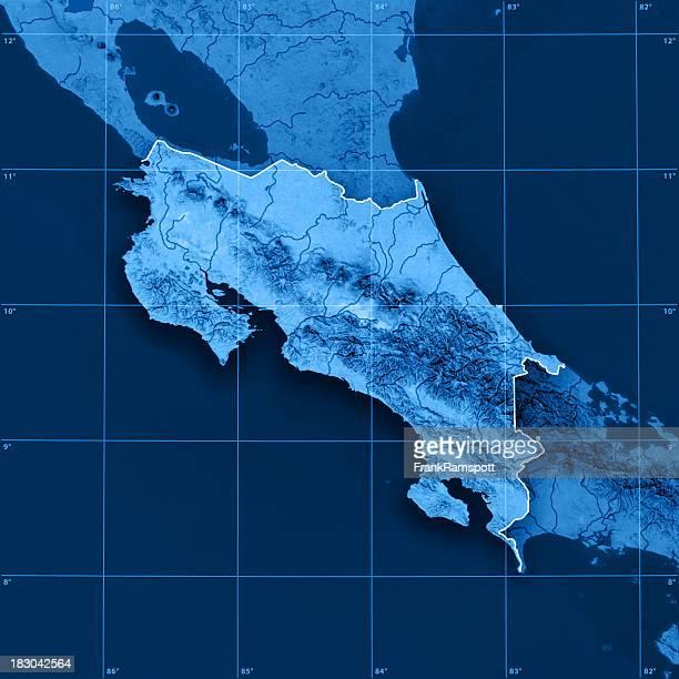 Costa Rica Topographic Map