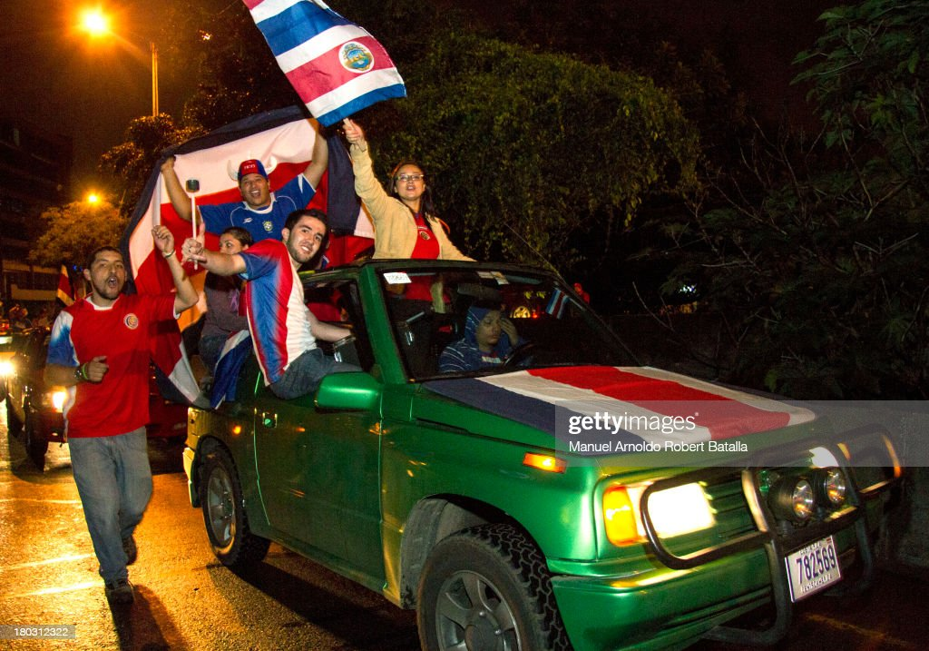Costa Ricans celebrate the classification of Costa Rica to the FIFA World Cup Brazil 2014 on September 10, 2013 in San Jose, Costa Rica. This is the fourth time Costa Rica has qualified for the World Cup, the last being the 2006 World Cup in Germany.