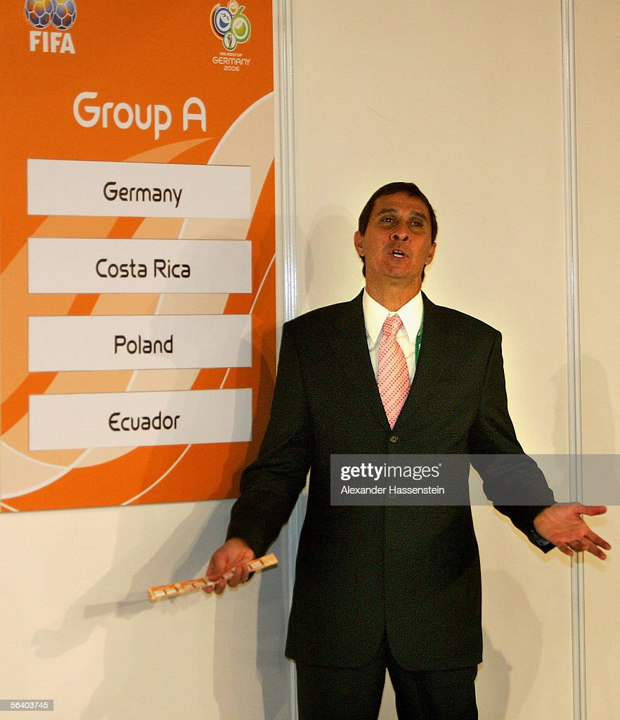 Costa Rica's coach Alexandre Guimaraes reacts to the World Cup draw December 9, 2005 in Leipzig, Germany.