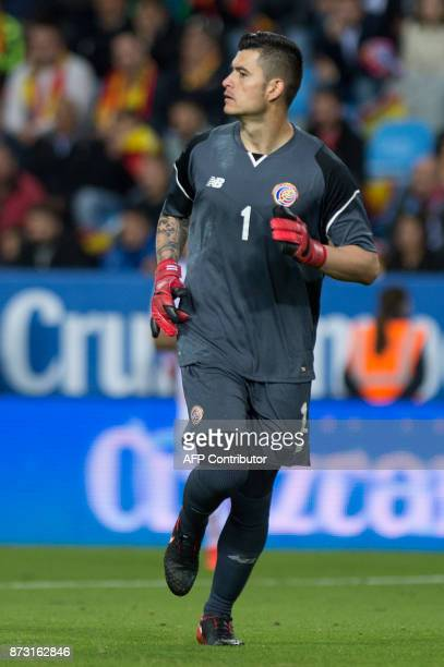 Costa Rica's goalkeeper Danny Carvajal looks on during the FIFA WC2018 friendly football match Spain against Costa Rica at La Rosaleda stadium in...