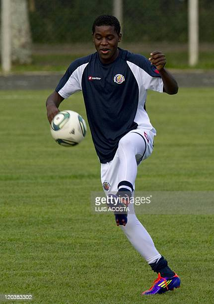 Costa Rica's Joel Campbell controlls the ball during a training session in Pererira Colombia on August 5 2011 during the FIFA U20 World Cup AFP...