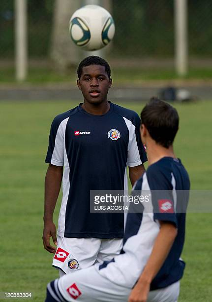 Costa Rica's Joel Campbell looks at a ball during a training session in Pererira Colombia on August 5 2011 during the FIFA U20 World Cup AFP...