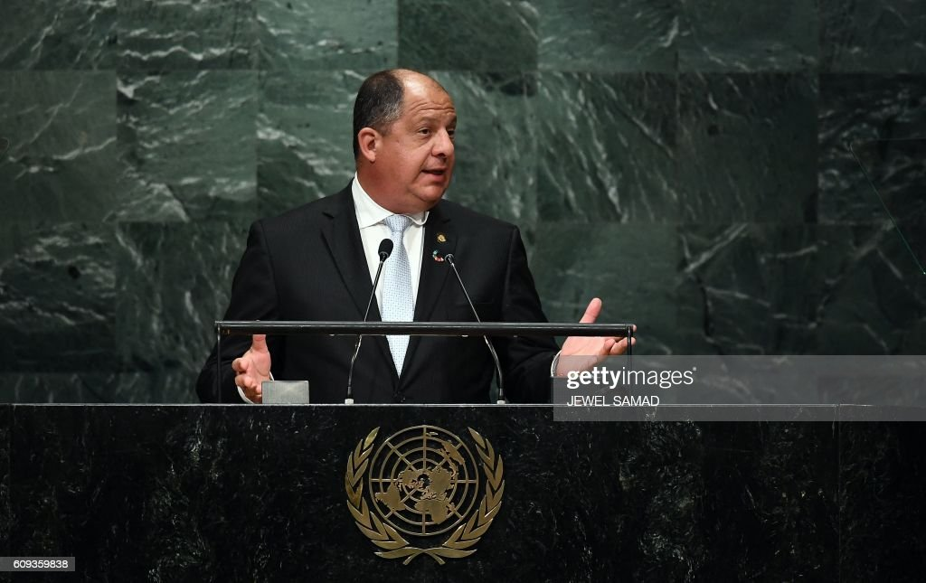 UN-GENERAL ASSEMBLY-COSTARICA : News Photo