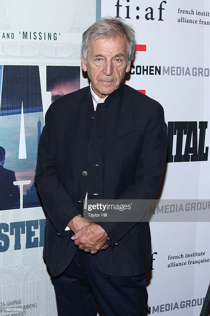 <a gi-track='captionPersonalityLinkClicked' href=/galleries/search?phrase=Costa-Gavras&family=editorial&specificpeople=213531 ng-click='$event.stopPropagation()'>Costa-Gavras</a> attends the 'Capital' screening at FIAF on October 7, 2013 in New York City.