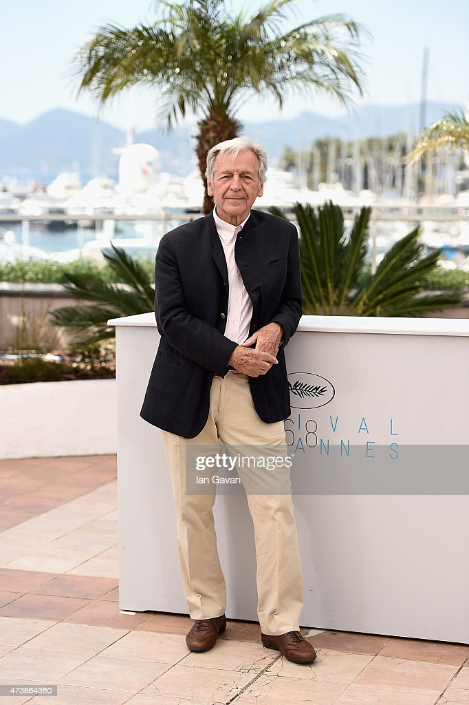 <a gi-track='captionPersonalityLinkClicked' href=/galleries/search?phrase=Costa-Gavras&family=editorial&specificpeople=213531 ng-click='$event.stopPropagation()'>Costa-Gavras</a> attends the Invite D'Honneur Photocall during the 68th annual Cannes Film Festival on May 18, 2015 in Cannes, France.