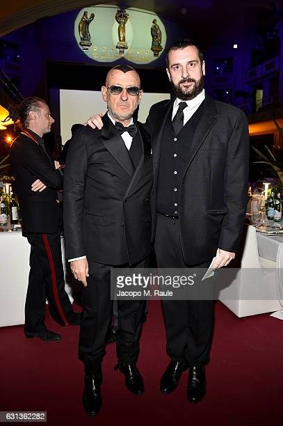 Costantino della Gherardesca and Andrea Panconesi attend Firenze4ever 14th Edition Party hosted by LuisaViaRoma on January 9 2017 in Florence Italy