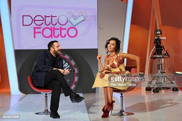 Costantino Della Gherardesca and Caterina Balivo attend the 'Detto e Fatto' photocall on September 4 2014 in Milan Italy
