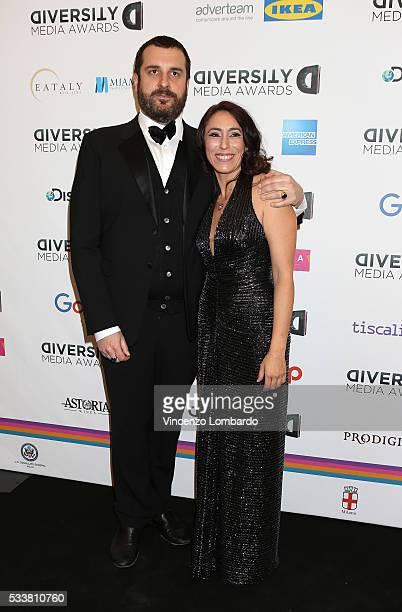 Costantino Della Gherardesca and Francesca Vecchioni attend the Diversity Media Awards Gala on May 23 2016 in Milan Italy