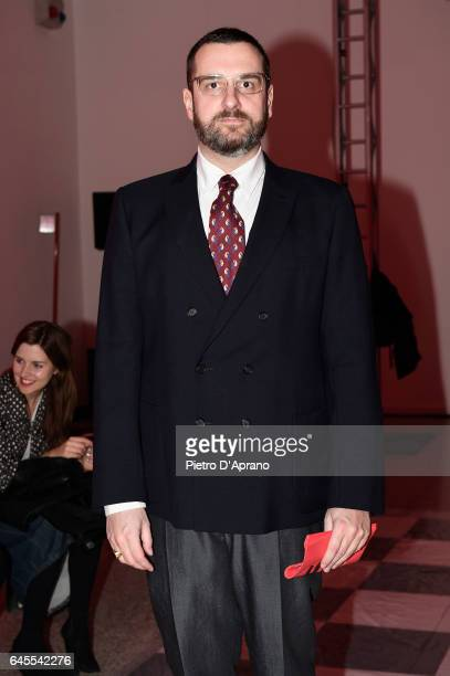 Costantino della Gherardesca attends the MSGM show during Milan Fashion Week Fall/Winter 2017/18 on February 26 2017 in Milan Italy