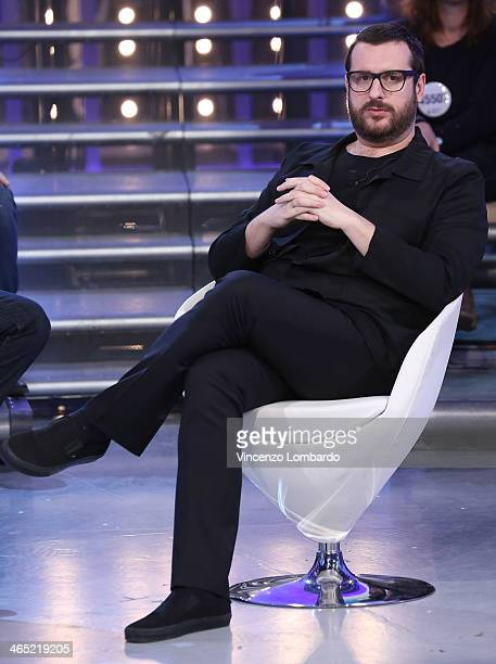 Costantino della Gherardesca attends the 'Quelli che il Calcio' TV Show on January 26 2014 in Milan Italy