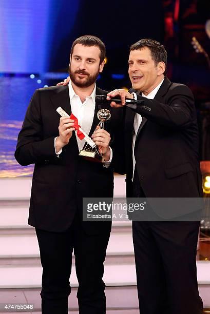 Costantino della Gherardesca receives the award for 'Amici' during the the PREMIO TV 2015 Awards at RAI Dear Studios on May 25 2015 in Rome Italy