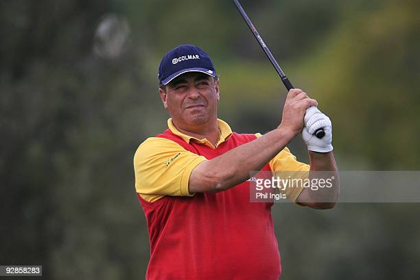 Costantino Rocca of Italy in action during the first round of the OKI Castellon Senior Tour Championship played at Club de Campo Mediterraneo on...