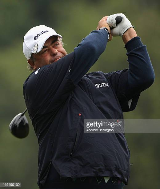 Costantino Rocca of Italy in action during the first round of the Senior Open Championship at Walton Heath Golf Club on July 21 2011 in Tadworth...