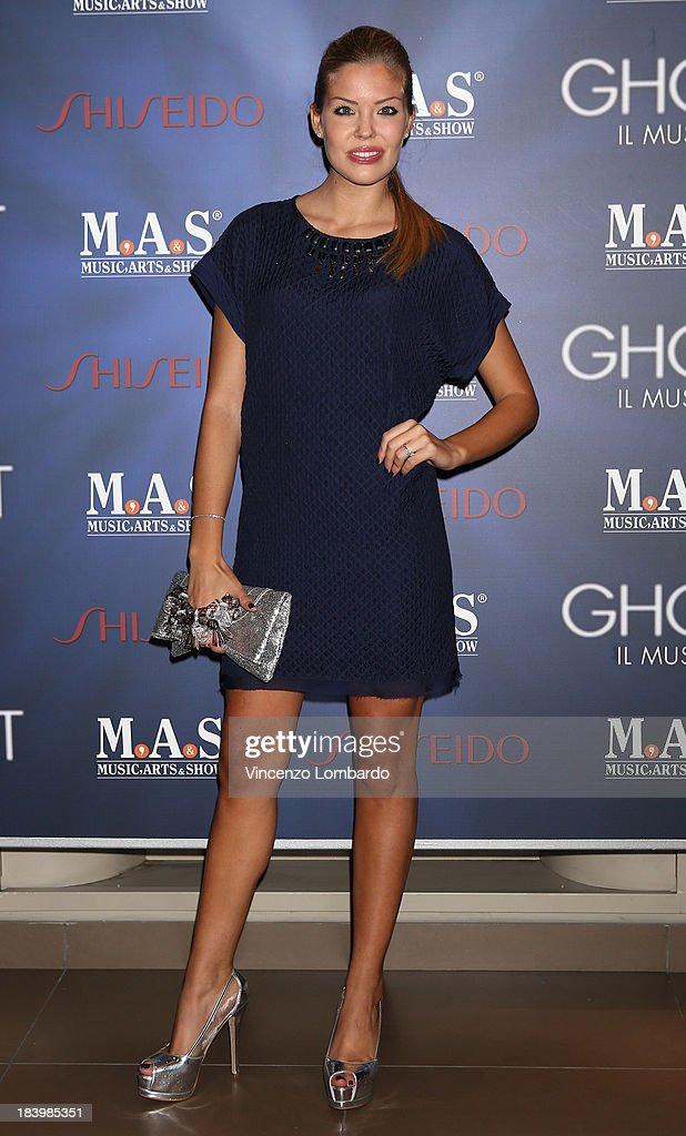 Costanza Caracciolo attends the opening night of 'Ghost - The Musical' at the Teatro Nazionale on October 10, 2013 in Milan, Italy.