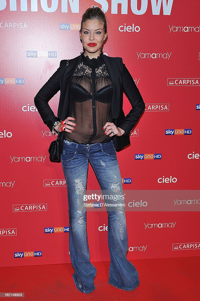 Costanza Caracciolo attends Yamamay Fashion Show cocktail party during Milan Fashion Week Fall/Winter 2013/14 at the Alcatraz on February 19, 2013 in Milan, Italy.