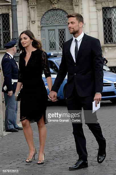 Costanza di Camillo and Luca Dotto Traditional reception at the Quirinale for the anniversary of the Italian Republic with people from the world of...