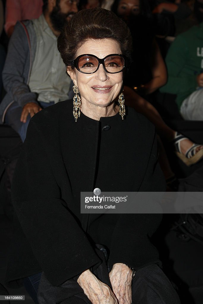 Costanza Pascolato attends the Ellus show during Sao Paulo Fashion Week Summer 2013/2014 on March 19, 2013 in Sao Paulo, Brazil.
