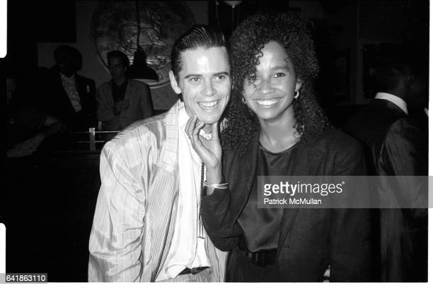 Costars C Thomas Howell and Rae Dawn Chong celebrate the release of their film Soul Man at the Hard Rock Cafe September 10 1986