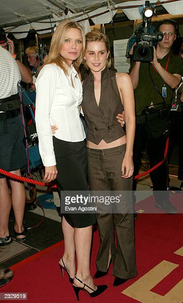 Costars Michelle Pfeiffer and Alison Lohman arriving at the 'White Oleander' film premiere during The Toronto International Film Festival 2002 in...