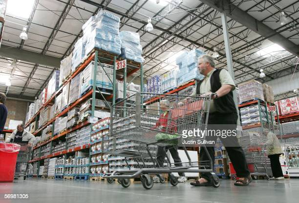 Costco customer shops at a Costco Warehouse store March 2006 in Richmond California Costco Wholesale Corporation the nation's largest warehouse club...