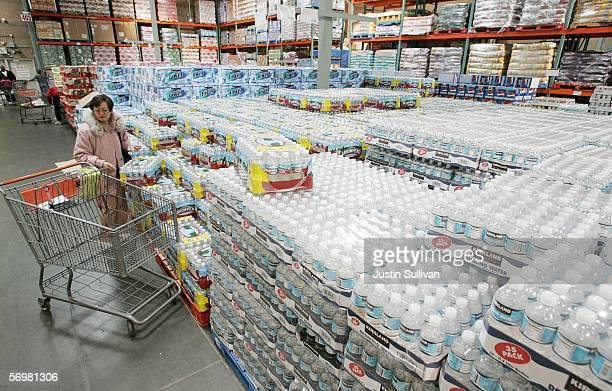 Costco customer shops for bottled water at a Costco Warehouse store March 2006 in Richmond California Costco Wholesale Corporation the nation's...