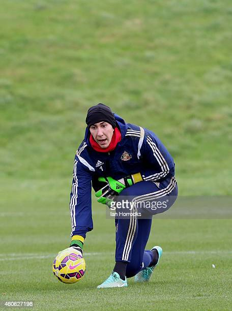 Costel Pantilimon during a Sunderland AFC Training Session at the Academy of Light on December 18 2014 in Sunderland England