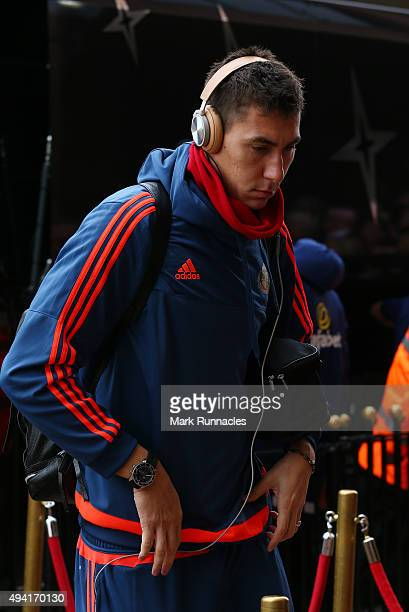 Costel Pantilimon of Sunderland arrives at the stadium ahead of the Barclays Premier League match between Sunderland AFC and Newcastle United FC at...