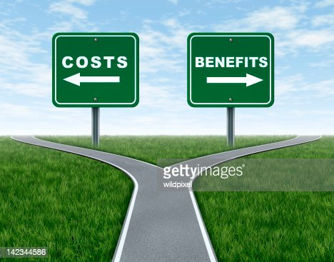 Costs and benefits : Stock Photo