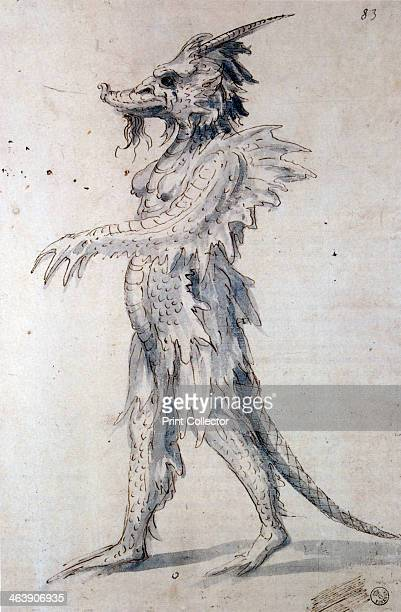 Costume design for a costume for a dragon 16th century From the Department of Prints and Drawings Florence